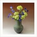 萩焼(伝統的工芸品)花器鉄青釉長頸