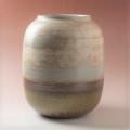 萩焼(伝統的工芸品)つぼ大掛分け(刷毛青&鉄釉)瓜形