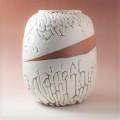 萩焼(伝統的工芸品)つぼ大鬼白松掛外し瓜形