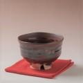 萩焼(伝統的工芸品)抹茶碗鉄赤釉端反