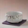 萩焼(伝統的工芸品)抹茶碗上鬼白梅手捻り馬盥