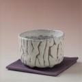 萩焼(伝統的工芸品)抹茶碗上鬼白荒竹半筒