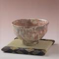 萩焼(伝統的工芸品)抹茶碗特御本手柿のへた