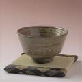 萩焼(伝統的工芸品)抹茶碗特緑釉荒端反