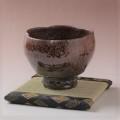 萩焼(伝統的工芸品)抹茶碗特大鉄赤釉荒呉器輪花