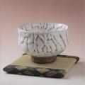 萩焼(伝統的工芸品)抹茶碗特上大鬼白荒松胴締