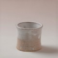 萩焼(伝統的工芸品)蓋置白萩掛分け筒小