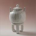 萩焼(伝統的工芸品)香炉鬼白竹兜五徳付