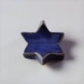 萩焼(伝統的工芸品)抜き型箸置き透青釉星