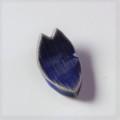 萩焼(伝統的工芸品)抜き型箸置き透青釉桜花弁