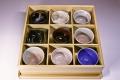 萩焼(伝統的工芸品)「萩彩和器」【ふみ御膳】(豆小鉢9個・塗り箱入り)