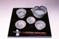 萩焼(伝統的工芸品)「萩彩和器」【六瓢】(萩の晩酌セット6点・塗り盆付)