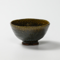 萩焼(伝統的工芸品)飯碗鉄青釉呉器