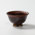 萩焼(伝統的工芸品)飯碗鉄赤釉荒朝顔