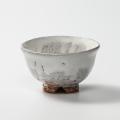 萩焼(伝統的工芸品)飯碗鬼白荒竹朝顔