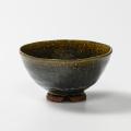 萩焼(伝統的工芸品)飯碗特大鉄青釉井戸形