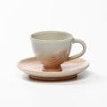 萩焼(伝統的工芸品)カップ&ソーサ刷毛姫呉器