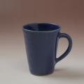 萩焼(伝統的工芸品)マグカップ藍釉末広碁笥底