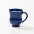 萩焼(伝統的工芸品)マグカップ藍釉胴締