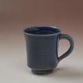 萩焼(伝統的工芸品)マグカップ藍釉端反