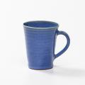 萩焼(伝統的工芸品)マグカップ透青釉末広碁笥底