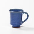 萩焼(伝統的工芸品)マグカップ透青釉端反