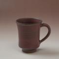 萩焼(伝統的工芸品)マグカップ鉄赤釉端反