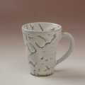 萩焼(伝統的工芸品)マグカップ鬼白松末広碁笥底