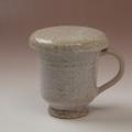 萩焼(伝統的工芸品)マグカップ鬼萩筒蓋付