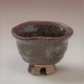 萩焼(伝統的工芸品)ぐい呑鉄鉄赤釉荒丸猪口