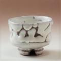 萩焼(伝統的工芸品)ぐい呑鬼白荒松胴締割高台