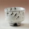 萩焼(伝統的工芸品)ぐい呑鬼白荒竹胴締割高台