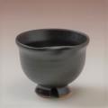 萩焼(伝統的工芸品)ぐい呑黒釉丸猪口