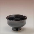 萩焼(伝統的工芸品)ぐい呑銀黒星釉柿の蒂