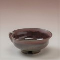 萩焼(伝統的工芸品)盃鉄赤釉朝顔片口