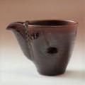 萩焼(伝統的工芸品)酒注ぎ小鉄鉄赤釉筒片口