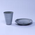 萩焼(伝統的工芸品)コーヒーセット鉄青釉(ポット・ドリッパー・マグカップ)