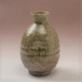 萩焼(伝統的工芸品)徳利緑釉肩丸えくぼ