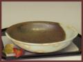 萩焼(伝統的工芸品)平鉢掛分け鉄釉御本手朝顔