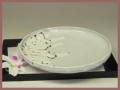 萩焼(伝統的工芸品)平皿鬼白丸