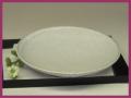 萩焼(伝統的工芸品)平皿白萩丸