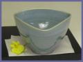 萩焼(伝統的工芸品)小鉢青釉三方