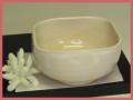 萩焼(伝統的工芸品)小鉢白姫四方