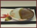 萩焼(伝統的工芸品)小皿掛分け鉄釉御本手丸