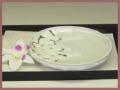 萩焼(伝統的工芸品)小皿鬼白丸