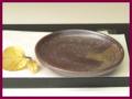 萩焼(伝統的工芸品)小皿鉄釉丸