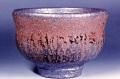 萩焼(伝統的工芸品)抹茶碗鉄赤釉荒胴締