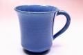 萩焼(伝統的工芸品)マグカップ青釉端反大
