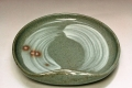 萩焼(伝統的工芸品)銘々皿刷毛青豆形
