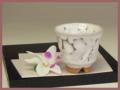 萩焼(伝統的工芸品)煎茶湯呑鬼白端反ヘラメ